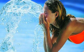 siero viso con acqua termale